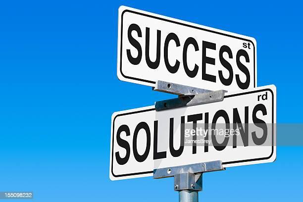 Success Solutions Road Sign