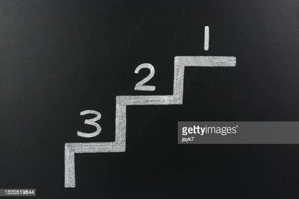 success steps - number 3 stock pictures, royalty-free photos & images