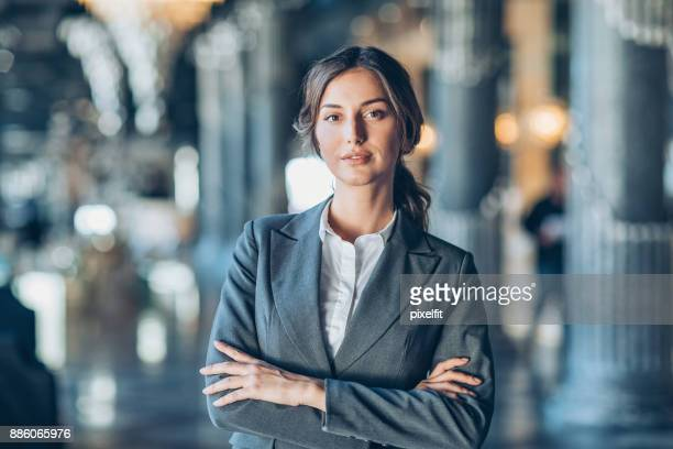 successful and confident businesswoman - employment law stock photos and pictures