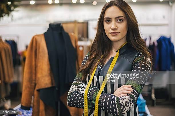 Successful and confident fashion designer