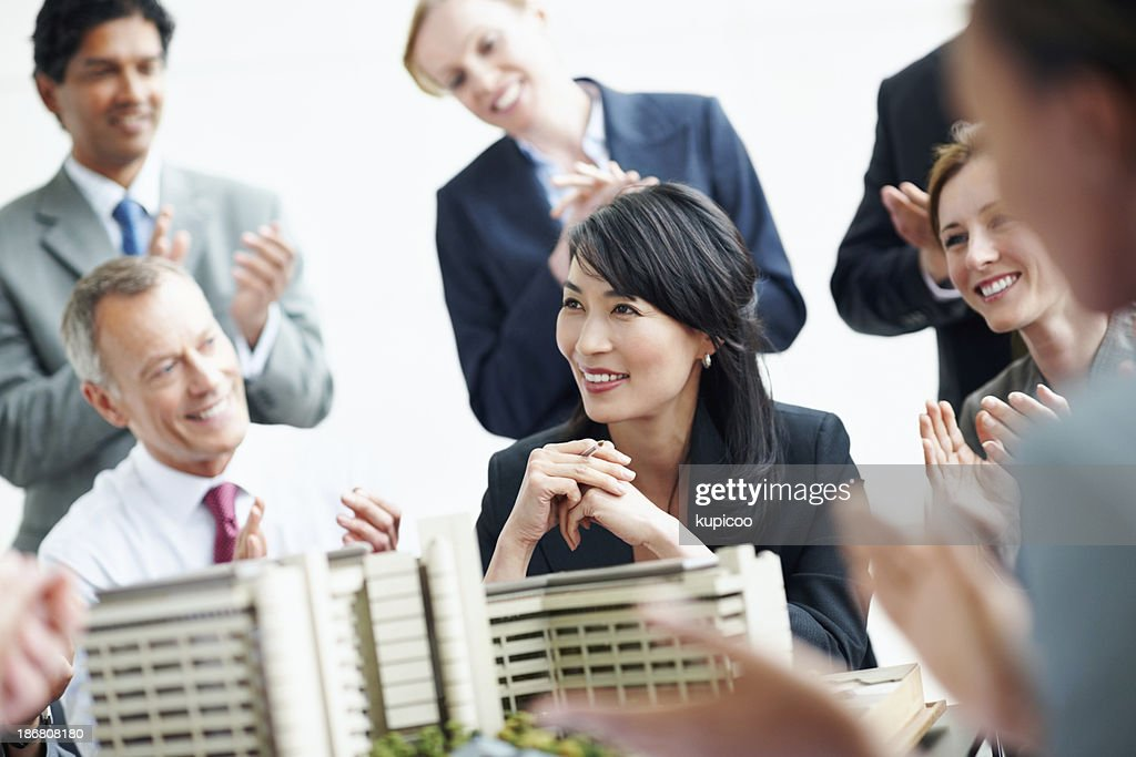 Successful architects : Stock Photo