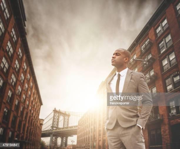 successful business man portrait in Dumbo - brooklyn