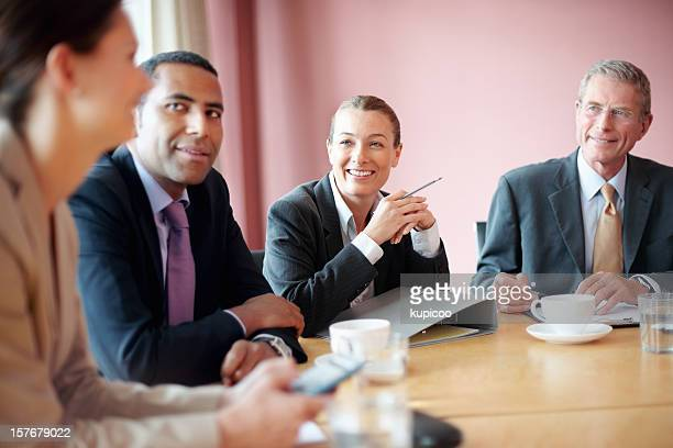 Successful business people in a meeting at conference room