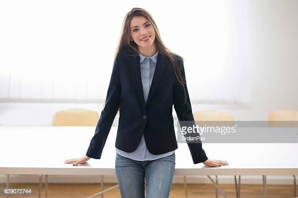 Erfolgreiche business-Frau
