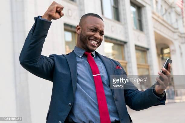 Successful Businessman Celebrating Good News