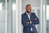 Successful businessman in modern office