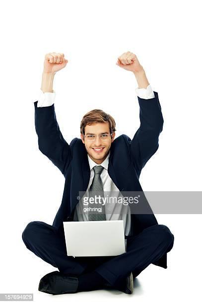uomo d'affari di successo - giacca da abito foto e immagini stock