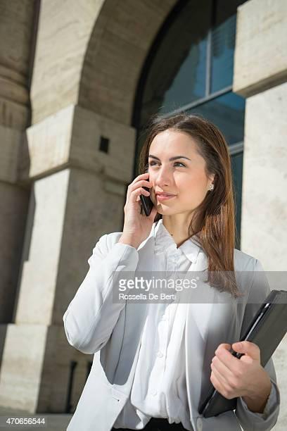 Successful Businesswoman In Urban Landscape