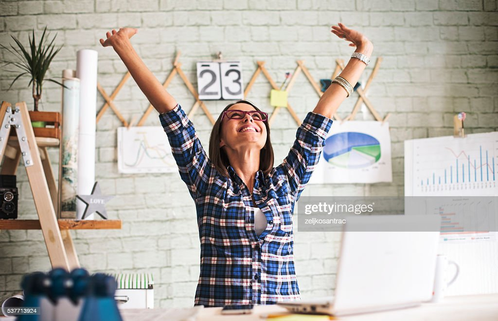 Successful  businesswoman. : Stock Photo