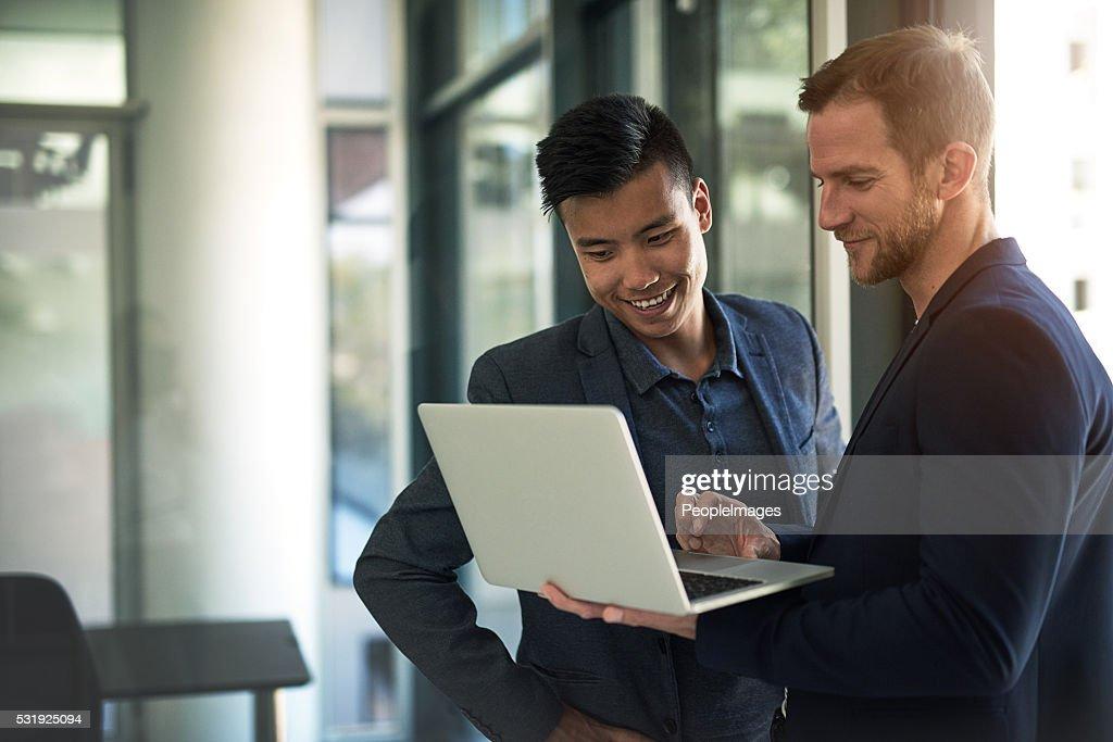 Successful collaborations : Stock Photo