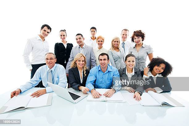 Successful diversity people on a meeting.