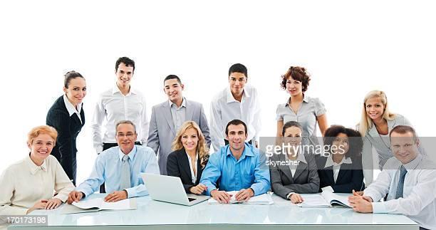 Erfolgreiche Vielfalt Personen bei einer Tagung.