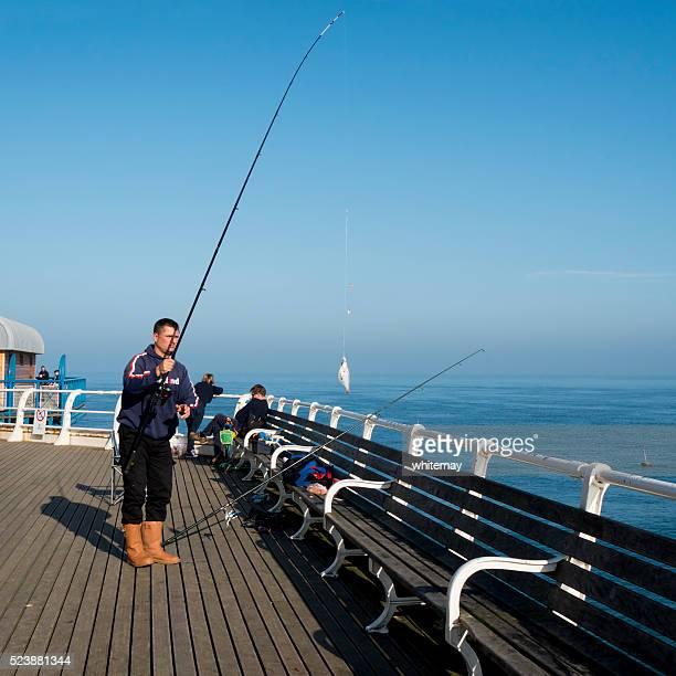 Successful fisherman on Cromer Pier