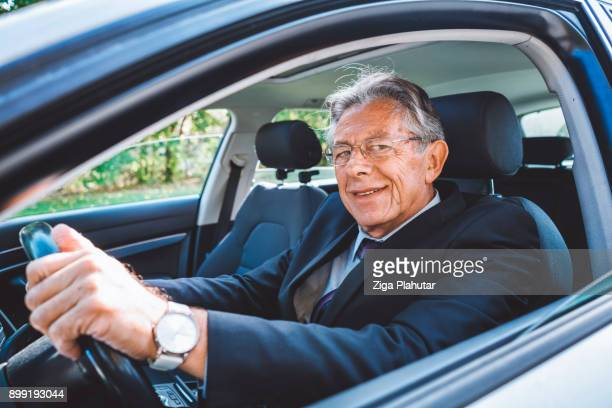 Successful man driving outside the comfort zone