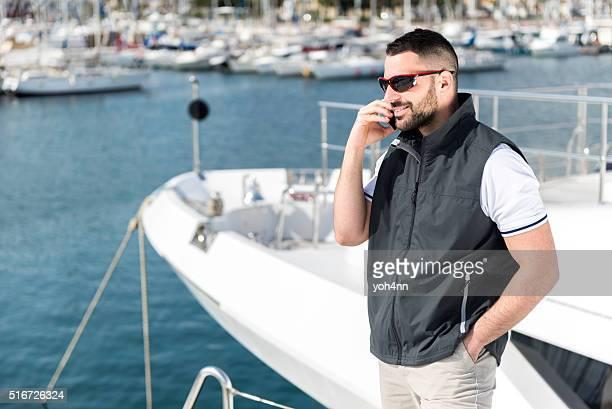 Successful man on phone