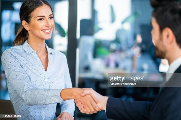 successful partnership. - recruiter stock pictures, royalty-free photos & images