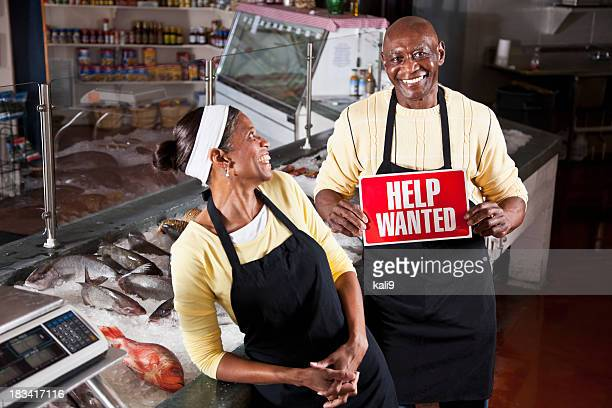 successful small business, hiring - help wanted sign stock photos and pictures
