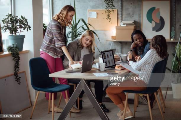 Successful team of businesswomen
