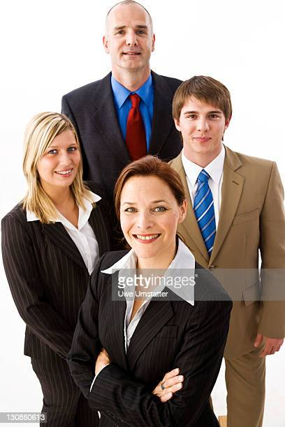Successful team, two men and two women