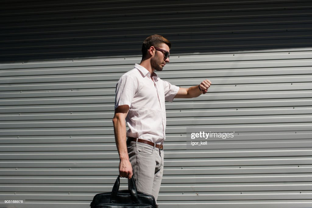 successful time management watch business meeting : Stock Photo