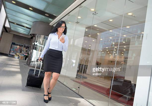 Successful woman going on a business trip