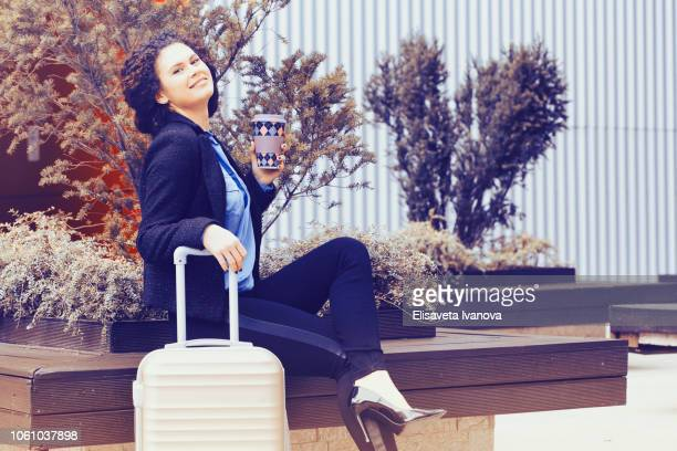 Successful woman going on business trip