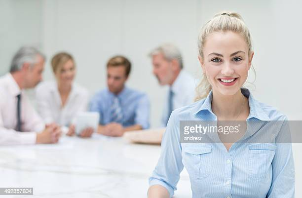 Successful woman in a business meeting