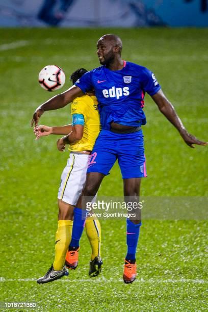 Suchao Nutnum of Buriram in action against Kitchee Midfielder Mohamed Sissoko during the Preseason Friendly Match between Kitchee and Buriram United...
