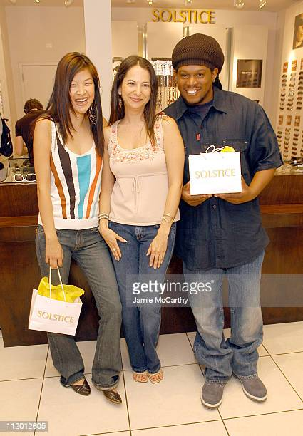6f2b0009d1afb Suchin Pak Eden Wexler and Sway during MTV Personalities Visit The Solstice  Sunglass Boutique at The