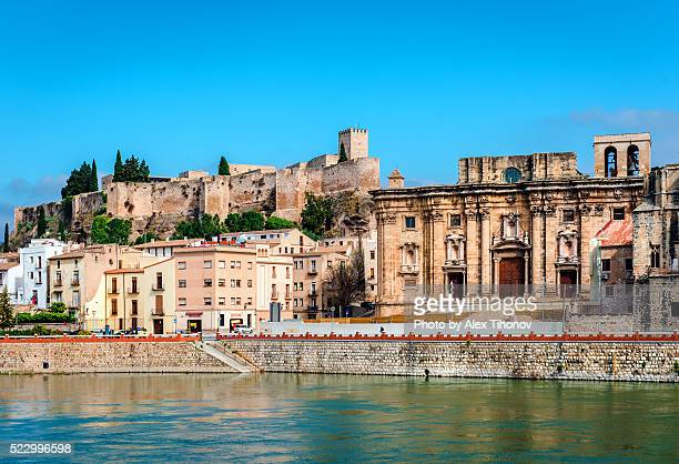 suda castle, historic fortification of tortosa - tarragona stock photos and pictures