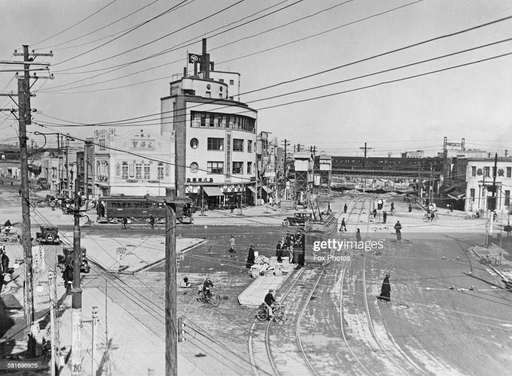 Sudacho, or Kanda-Sudacho, a neighbourhood of Chiyoda in Tokyo, Japan, circa 1930.