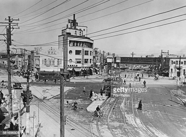 Sudacho or KandaSudacho a neighbourhood of Chiyoda in Tokyo Japan circa 1930