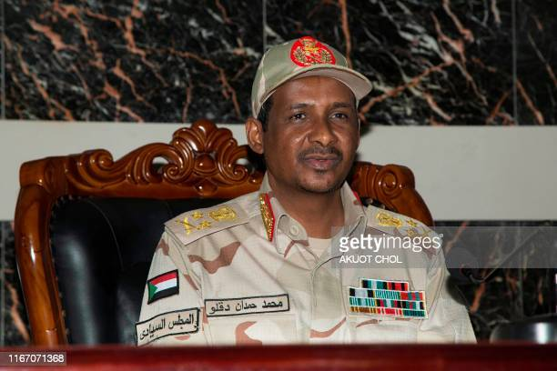 Sudan deputy Head of Military Council Mohammed Hamdan Daklo attends the transitional Govern and the rebel group talk mediate by South Sudan on...