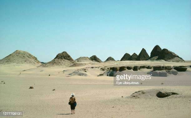 Sudan, El Nuri pyramids on the west bank of the river Nile, burial place of King, Queens and princes.
