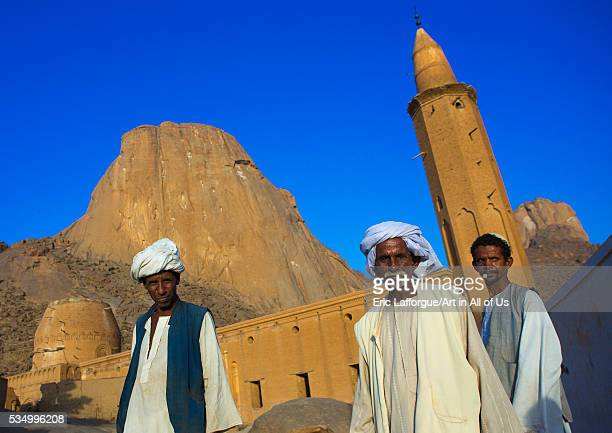 Sudan Kassala State Kassala men in front of khatmiyah mosque at the base of the taka mountains