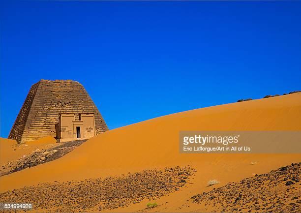 Sudan Kush Meroe pyramid and tomb in royal cemetery