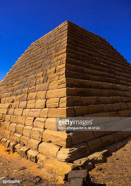 Sudan Kush Meroe pyramids and tombs in royal cemetery