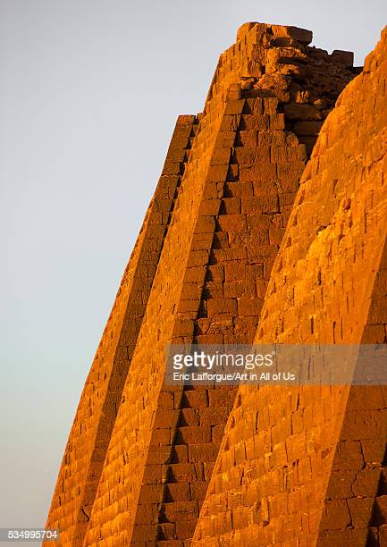 Sudan Kush Meroe pyramids in royal cemetery