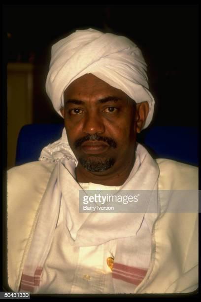 Sudan ldr. Omar al-Bashir during African ldrs. Summit in Cairo, Egypt.