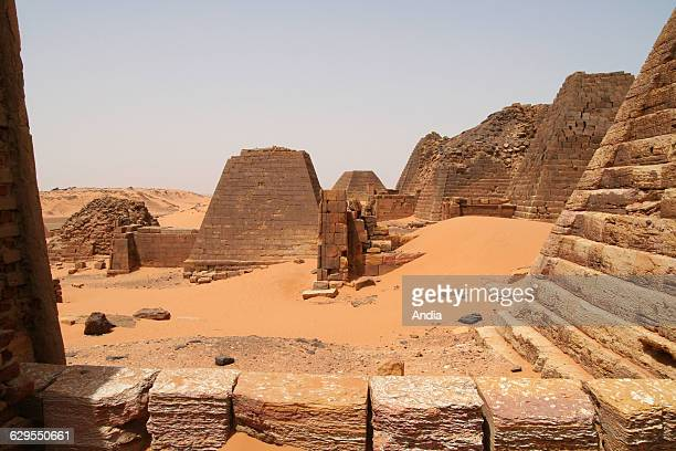 Sudan Meroe ancient city of Nubia land of the black pharaohs two thousand years ago kings of Black Africa's oldest civilization Capital of a kingdom...