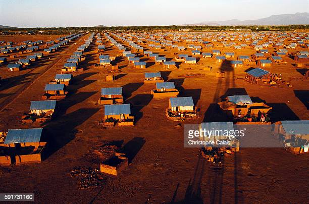 Sudanese border, Kakuma Camp. General view of the camp which gives shelter to the entire Bantu community : 12000 people.