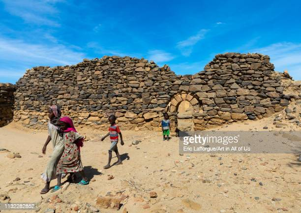 Sudanese children in al Ghazali christian monastery Northern State Wadi Abu Dom Sudan on December 27 2018 in Wadi Abu Dom Sudan