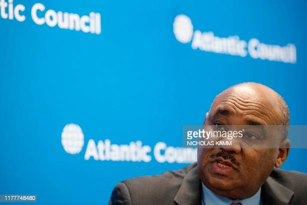 Sudanese Finance Minister Ibrahim Elbadawi speaks to AFP during an interview in Washington DC on October 22 2019 The minister says that Sudan's young...