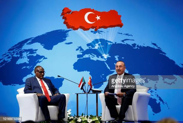 Sudanese Foreign Minister ElDirdeiry Mohamed Ahmed attends the 10th Ambassadors' Conference chaired by Minister of Foreign Affairs of Turkey Mevlut...