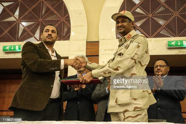 Sudanese General and Vice President of Sudanese Transitional Military Council, Mohamed Hamdan Dagalo and Sudan's Forces of Freedom and Change...