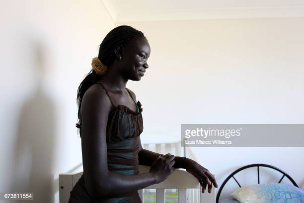 Sudanese Kuir Atuich at a family home on January 30 2017 in Tamworth Australia Tamworth is a large regional city in the New England region of...