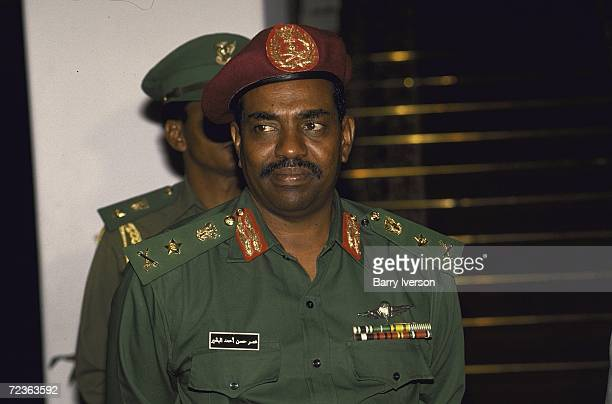 Sudanese leader Omar al-Bashir during meeting. With President Mubarak.