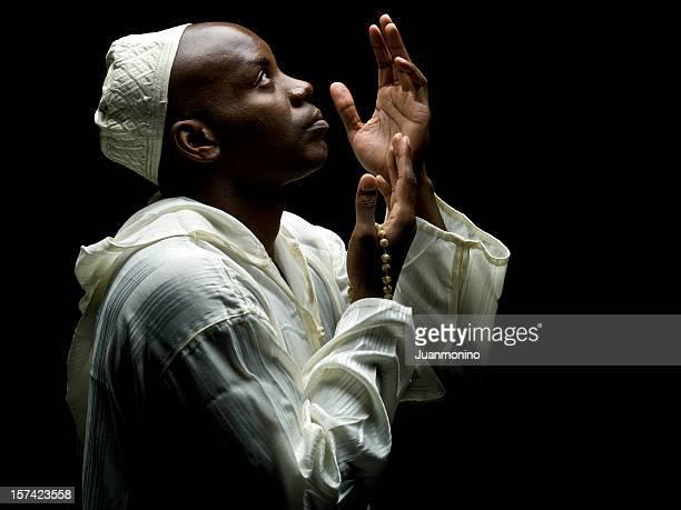 Sudanese Muslim Man Praying