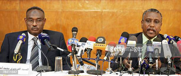 Sudanese politician Dirdiri Mohammed Ahmed a leader of the National Congress Party of President Omar alBeshir and Yasser Armane from the Sudan...