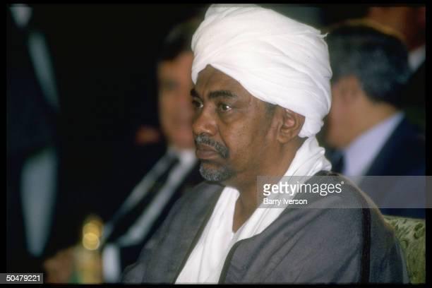 Sudanese Pres. Omar al-Bashir attending post-Israeli elections Arab summit.